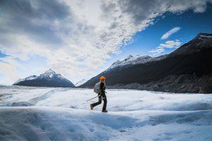Caminhada no gelo