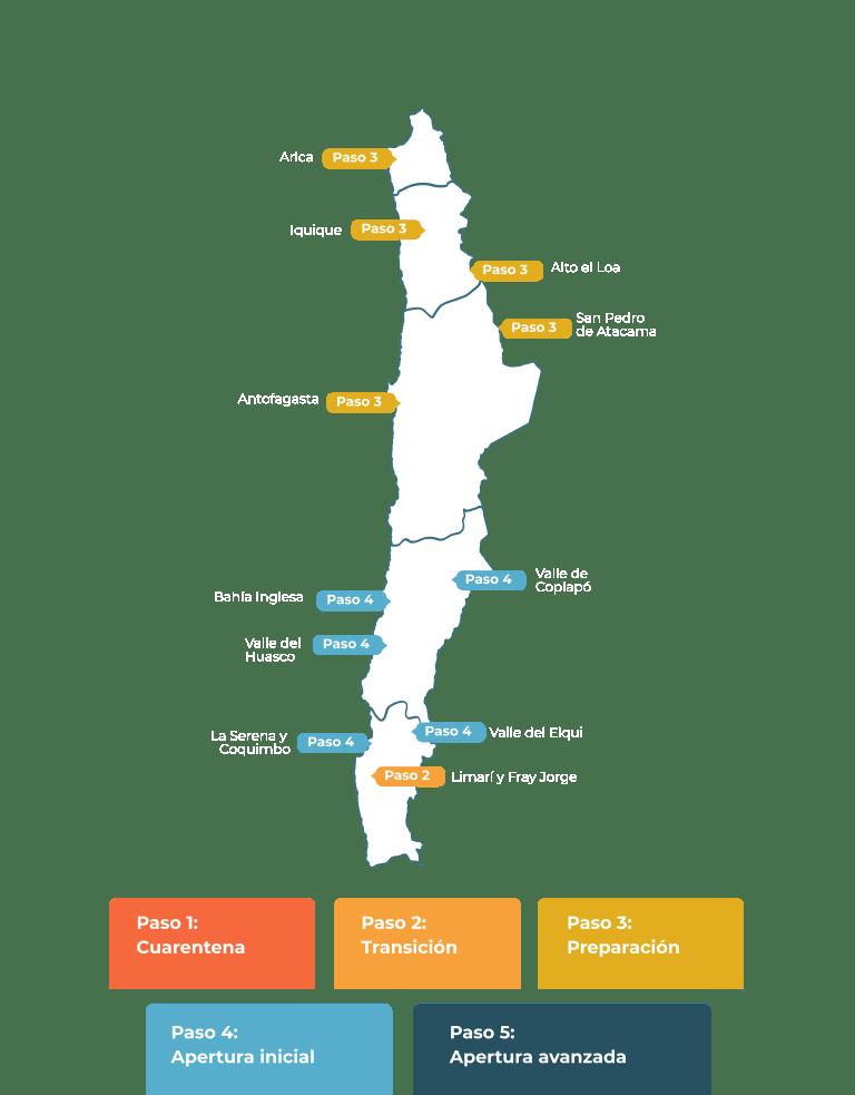 Mapa estado de destino